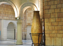 Old Arab Style Arches. Traditional Arabic architecture showing arches and large vases in the Ibn Battuta Mall in Dubai Royalty Free Stock Photography