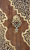 Old Arabesque Door, Lebanon. Old Arabesque door with floral decoration Royalty Free Stock Photos