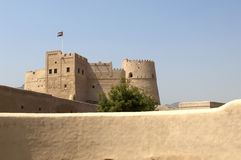 Old arabian castle in Fujairah Stock Photography