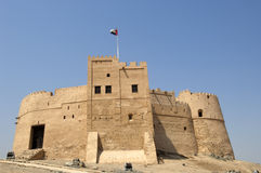 Old arabian castle in Fujairah Stock Photo