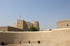 Old arabian castle in Fujairah Stock Images