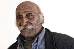 old arabian lebanese man with big mustache Stock Photos