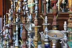 Old arabic hookah Royalty Free Stock Photos