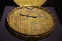 Old Kaaba Compass. Old and Arabic Kaaba Compass to find direction of prayer Royalty Free Stock Images