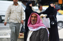 Old arabic man with traditional Keffieh Stock Images