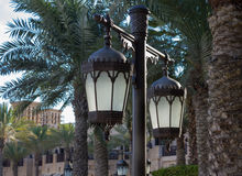 Old arabic metal streetlight Stock Photos
