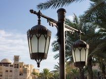 Old arabic metal streetlight Stock Images