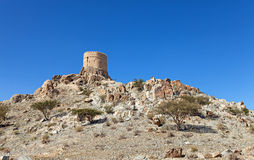 Old arabic tower. On a hill Royalty Free Stock Photography