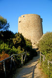 Old aragon tower. The old aragon tower in sardinia Stock Image
