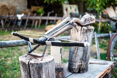 Old arbalest model Royalty Free Stock Photography