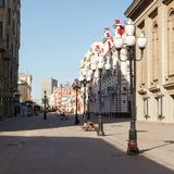 Old Arbat early summer morning Royalty Free Stock Images