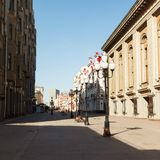 Old Arbat early summer morning Royalty Free Stock Image