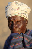 Old Arbore man in Lower Omo Valley, Ethiopia Stock Image