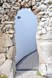 Old arch. From gray Stone Royalty Free Stock Image