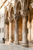 The old arch architecture of Dubrovink Royalty Free Stock Photography