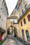 Old Arch Arco de  Almediina Medieval City Coimbra Portugal Stock Photos