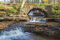 Old arch bridge in autumn Royalty Free Stock Image