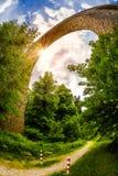 Old arch bridge in Germany. Old railway arch bridge in Velbert, Germany Stock Photos