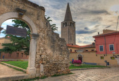 Old Arch in Dobrile Juraj Square royalty free stock photography