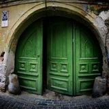 Old arch gate door Stock Photography