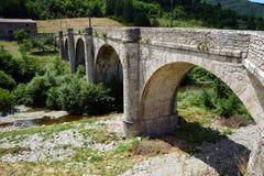 Old arch stone bridge Stock Photo