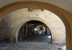 Old arch stone passageway Stock Photo