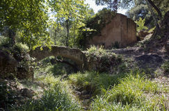 Old Arched Bridge and Olive Mill/Press Stock Image