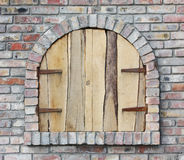 Old arched window Stock Photos