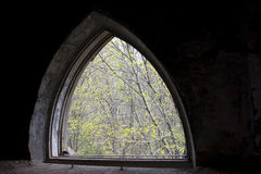 The old arched window Royalty Free Stock Photos