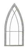 Old arched window frame isolated royalty free stock photo