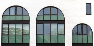 Old arched windows Stock Image