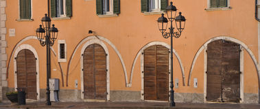 Old arches on the facade Stock Image