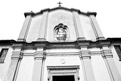 Old archit ecture in italy europe milan religion and sunlight Royalty Free Stock Image