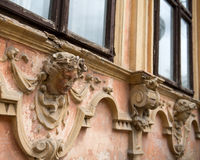 Old architectonic details. Old house stock photography