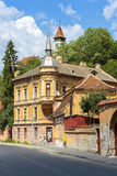 Old architectural building in Brasov, Romania Stock Images