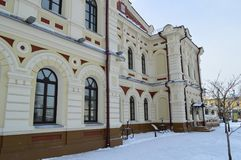 Old architectural building Irkutsk city stock photography