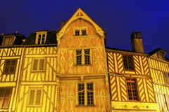 Old architecture of Auxerre Royalty Free Stock Images