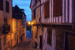 Old architecture of Auxerre Stock Image