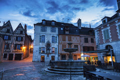 Old architecture of Auxerre Stock Photography