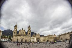 Colonial downtown bogota colombia panoramic stock image