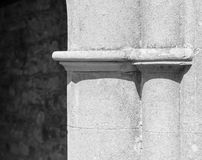 Old architecture church entrance column detail Stock Image