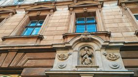 Old architecture of the city in the Europe of Lviv.  royalty free stock images