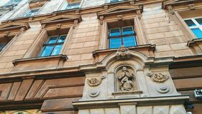 Old architecture of the city in the Europe of Lviv.  stock image