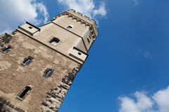 Old Architecture in Cologne, Germany. Bayenturm (Bayen Tower) in the German city Cologne (Köln Stock Images