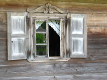 Old architecture detail. Window of old house royalty free stock photos