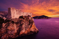 Old architecture of Dubrovnik. Croatia. Royalty Free Stock Photography