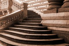 Old architecture entrance staircase Royalty Free Stock Image