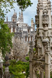 Old Architecture in Europe / Quinta da Regaleira Palace in Sintr Royalty Free Stock Photo