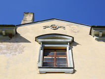Old architecture, a fragment of the house Royalty Free Stock Photography