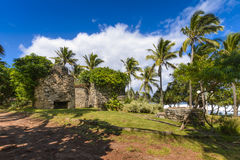 Old architecture at Grande Anse place, Reunion Island. During a sunny day Stock Photo